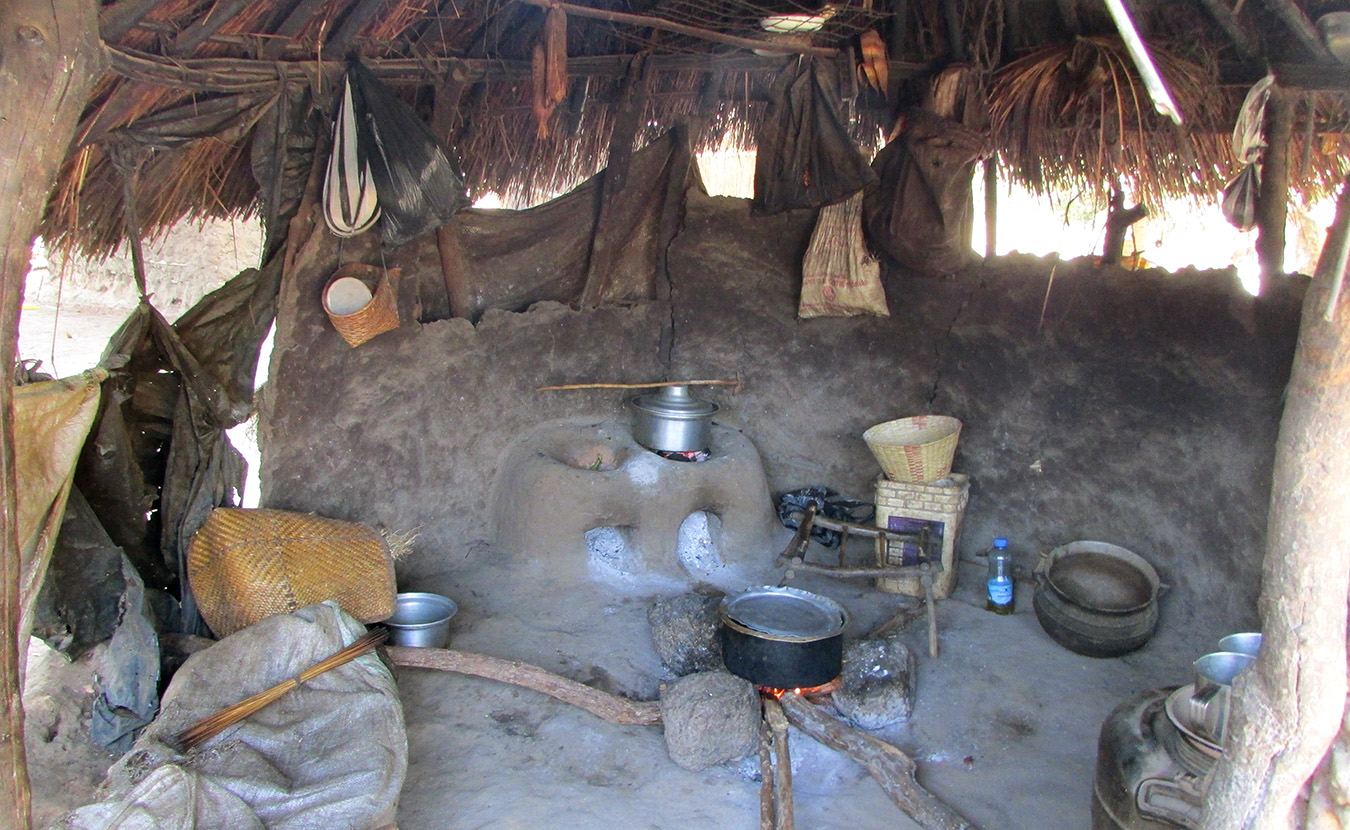 Theresa's language helper, Mary, has a typical Moru kitchen. | Photo by Will and Theresa Reed