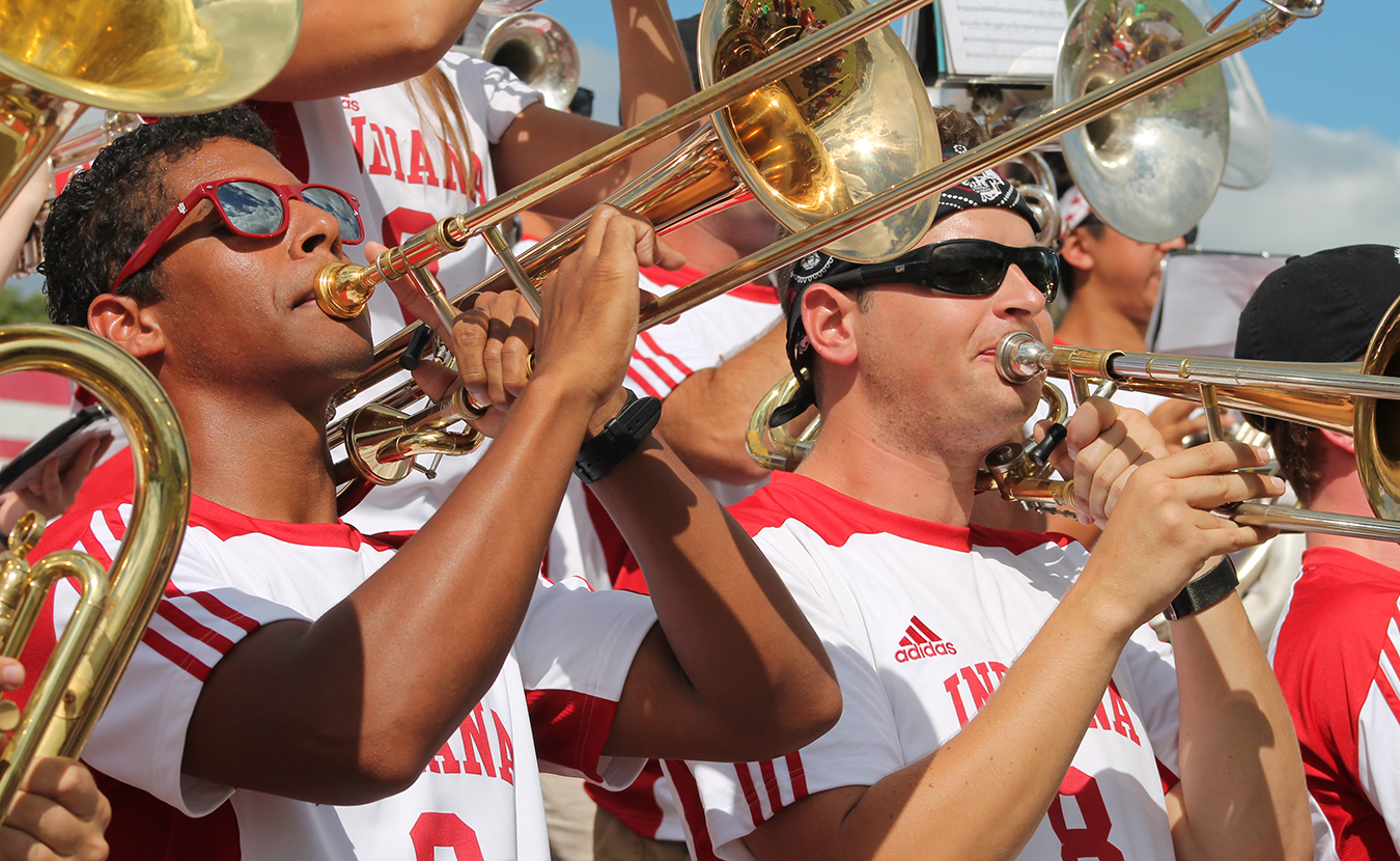 Members of the Crabb Band exhibit a high level of play, are dependable, and represent IU positively. | Photo courtesy of Indiana University Jacobs School of Music Department of Bands