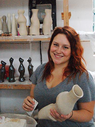 Stephanie Galli with some of her ceramic work. | Courtesy photo