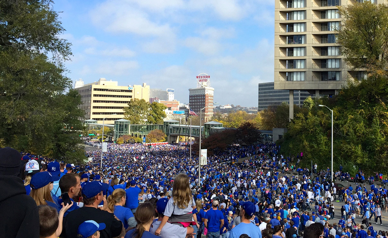 It is estimated that 800,000 people attended the Royal's World Series victory parade. | Photo by Samantha Eibling