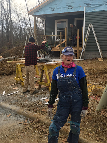 Ruthie Cohen on-site at a Habitat house. | Limestone Post