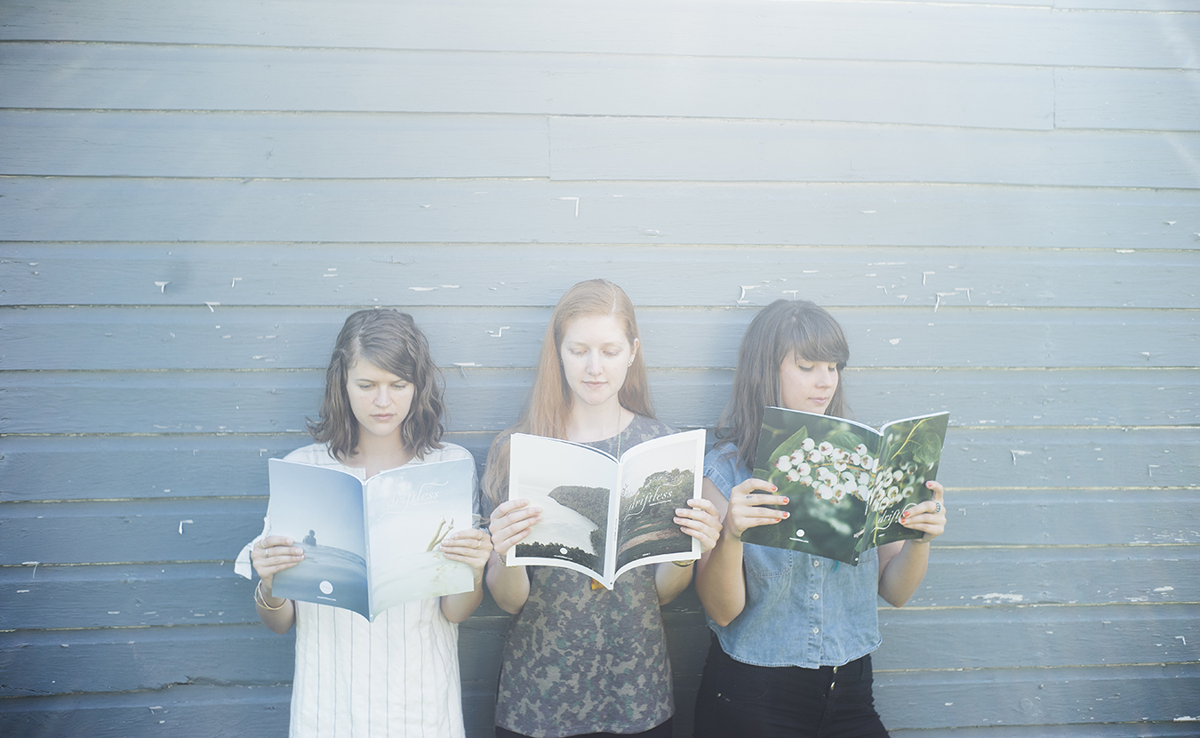 "Working out of Bloomington and Chicago, ""Driftless"" magazine's three-member publishing team includes (l-r) Anna Powell Teeter, Leah Fithian, and Shelly Westerhausen. 
