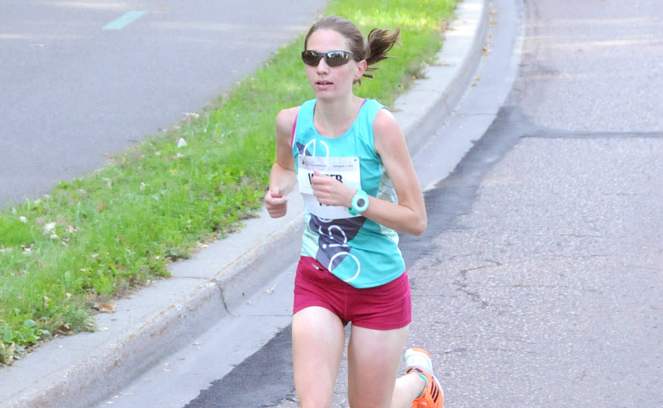 Anna Weber put her academic life on hold to work toward her goal of running in the Olympics. She has qualified to compete this Saturday for a spot on the 2016 U.S. Olympic marathon team. | Courtesy photo