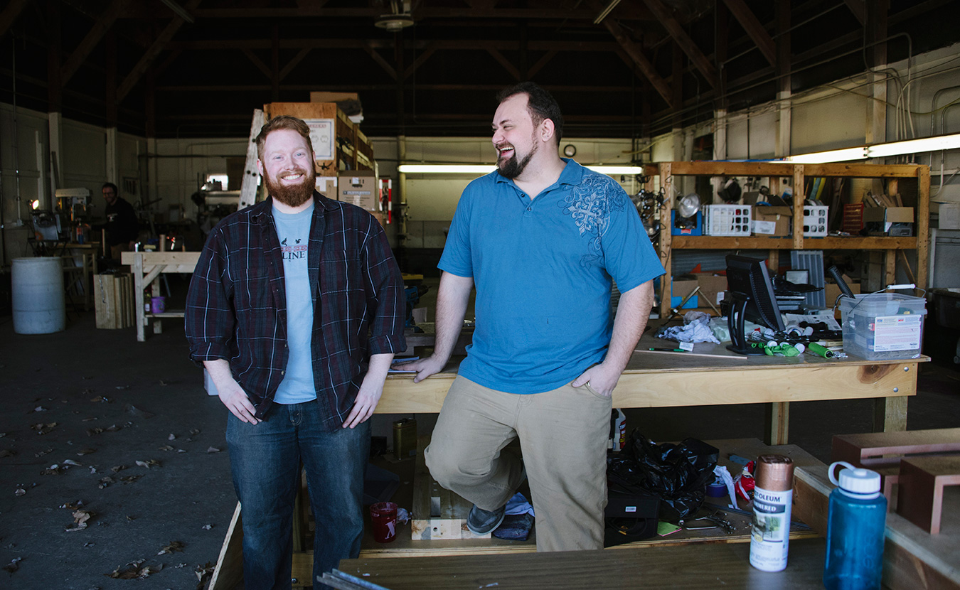 Adam Nahas, right, founder of Artisan Alley and Cody Craig, director of the Ingot Workshop. | Photo by Natasha Komoda