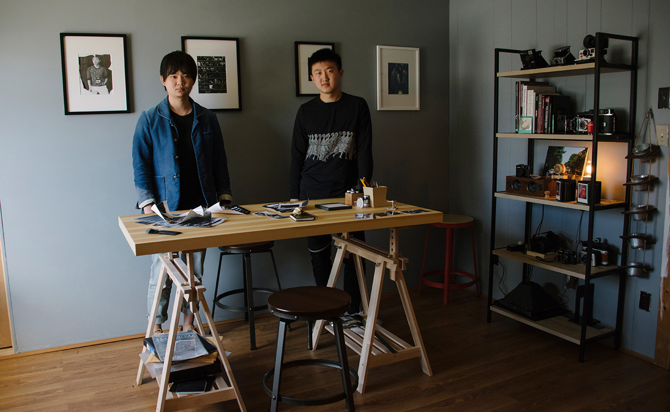 Wudy Ng, left, and Richard Liu at their photography studio and darkroom. | Photo by Natasha Komoda