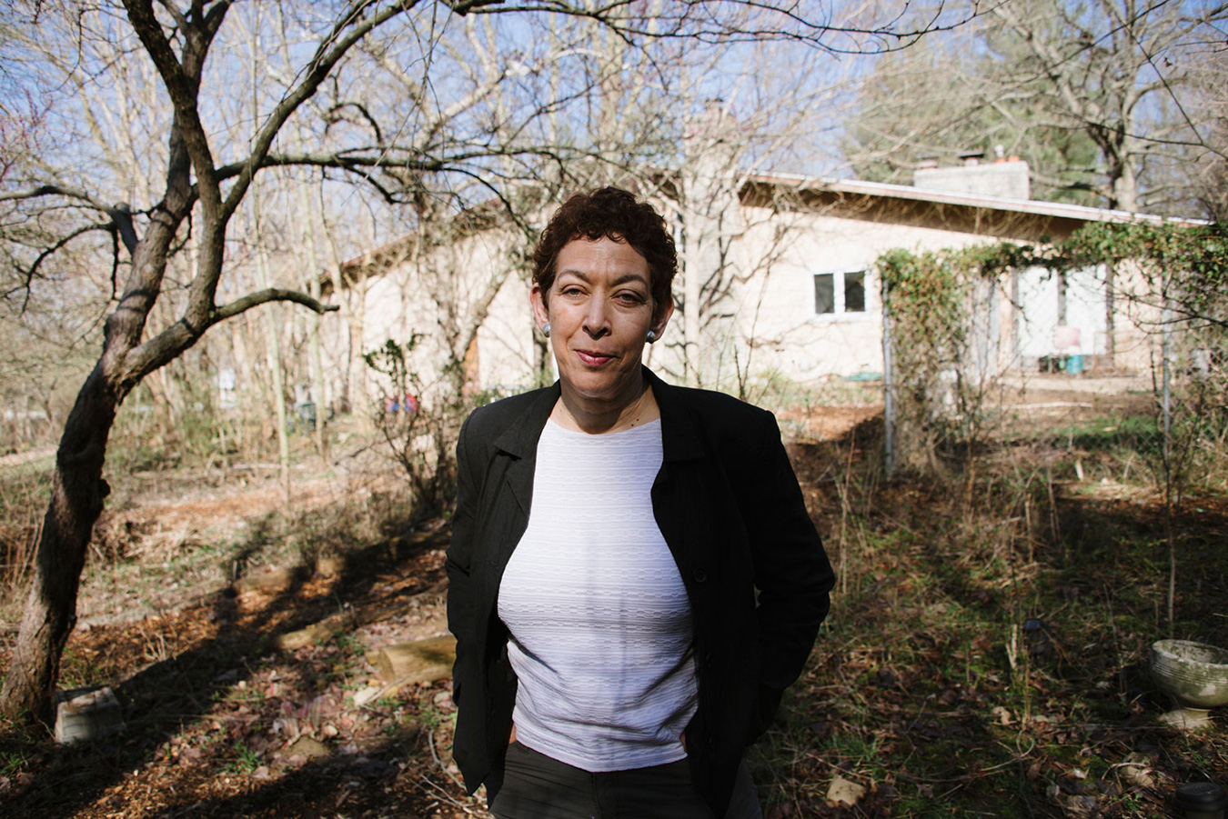 Zilia Estrada has been working on her backyard naturalized garden for almost a decade — it was a grass lawn when she bought the house. Estrada is one of the many members of Bloomington's food-insecure population. | Photo by Natasha Komoda
