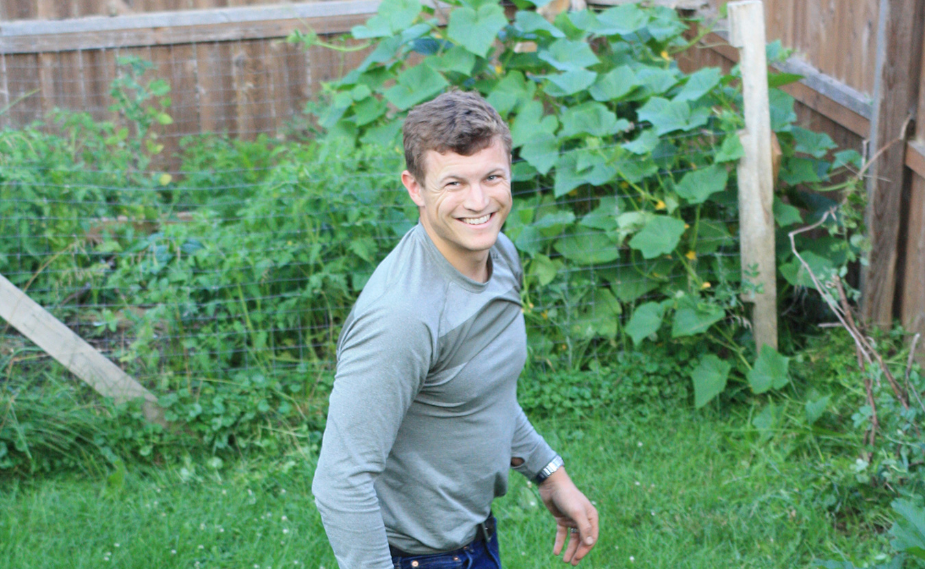 After years of gardening difficulties in Montana, Jonna Mary Yost and her husband, Benjamin Schwarz (pictured here), did not realize what was in store from their Bloomington garden. | Photo by Jonna Mary Yost