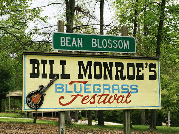 This year marks the 50th anniversary of the Bill Monroe Memorial Bean Blossom Bluegrass Festival. | Photo by Samantha Eibling