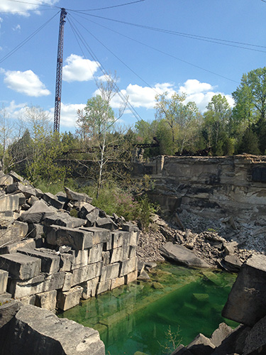 Furst Quarry off Tapp Road in Bloomington. | Photo by Teal Strabbing, Visit Bloomington
