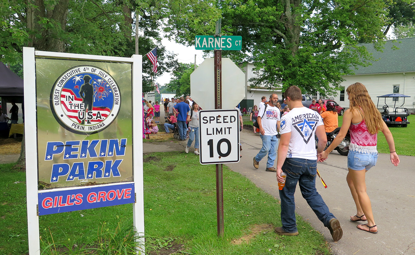 """Every year since 1830, New Pekin, in southern Indiana, has celebrated the 4th of July, making it what the townspeople say is the """"Oldest Consecutive 4th of July Celebration in the Nation."""" 