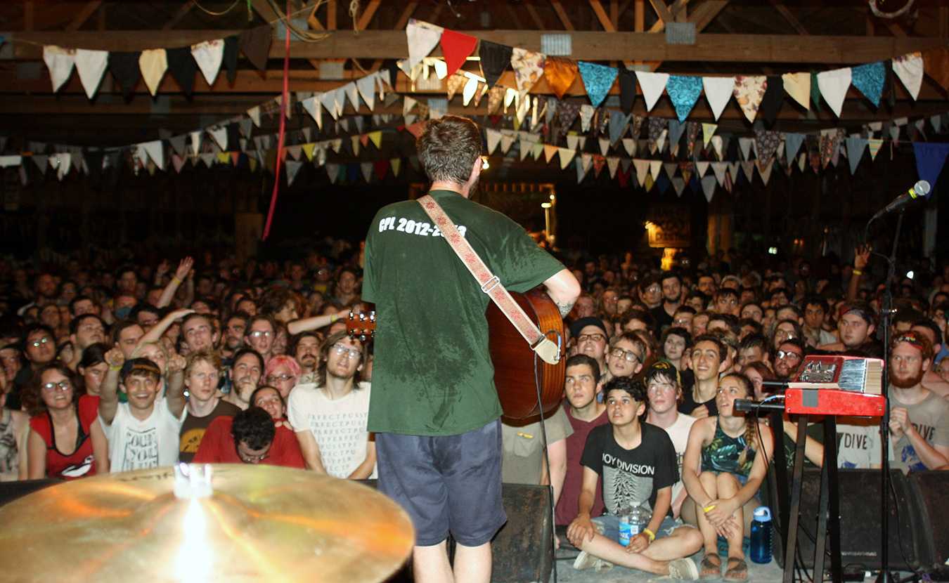 Plan-It-X Fest, a weekend of folk-punk running July 22 to 24 at Stable Studios, brings people to southern Indiana for the opportunity to see both friends and favorite bands perform. | Photo by Garrett Walters