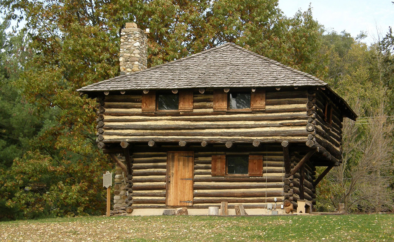 A replica of the old blockhouse at Historic Fort Ouiatenon Park. | Photo courtesy of Jim Hammer