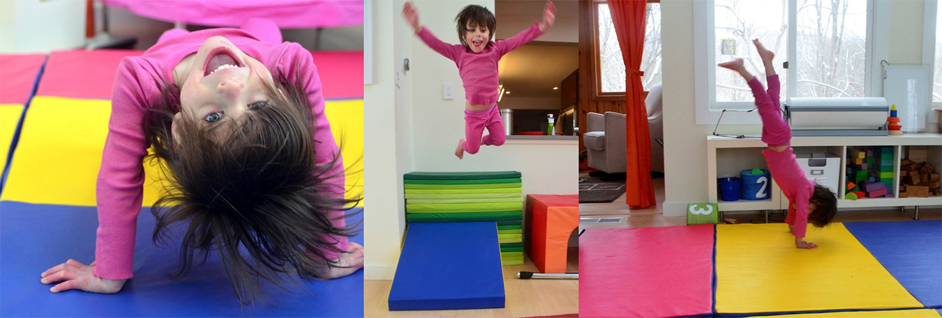 Juniper, who has been taking gymnastics since she was two, was recently inspired by Olympic gymnast Simone Biles. | Courtesy photos