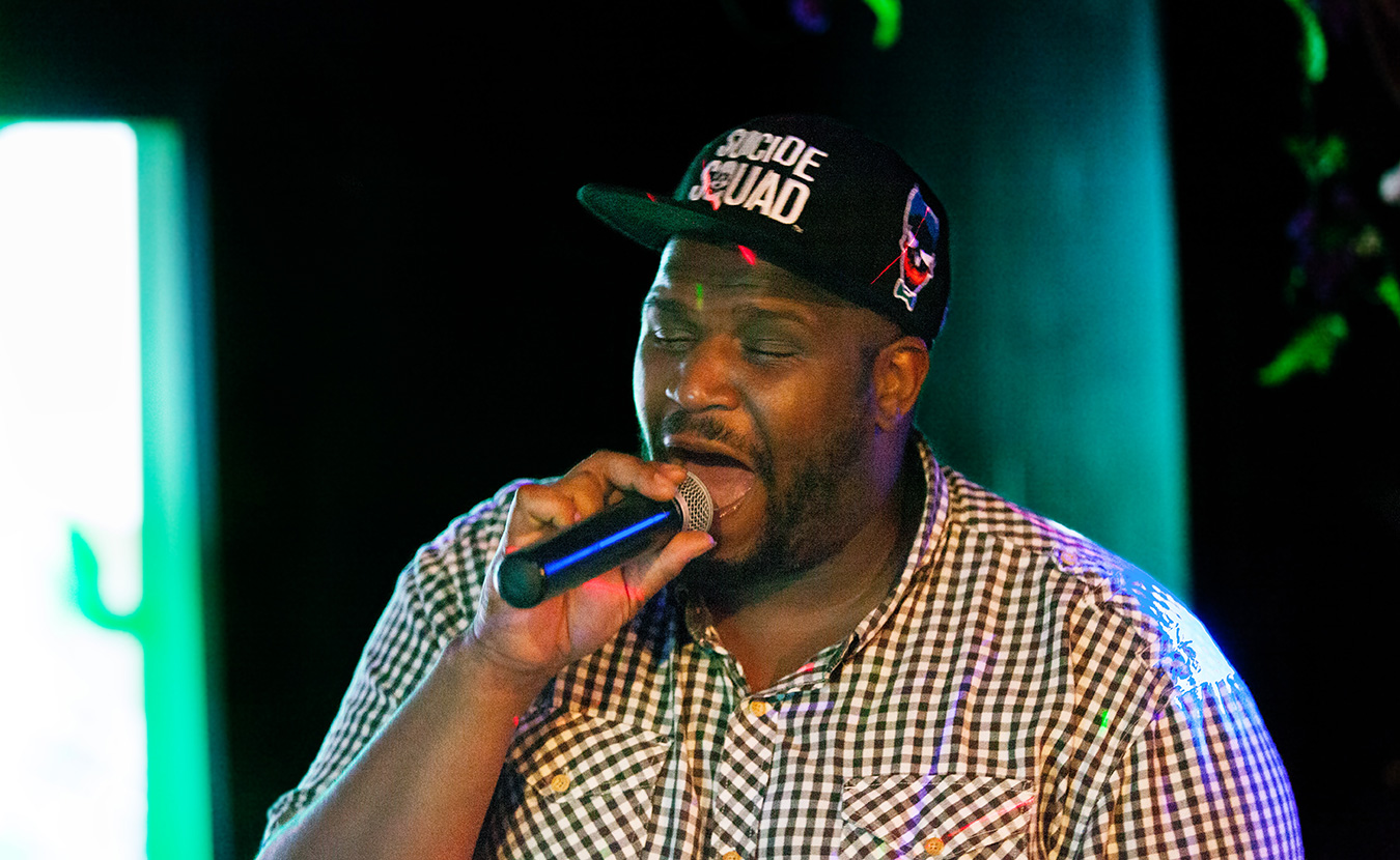 Aaron Mosley performs during karaoke night at The Back Door. | Courtesy photo