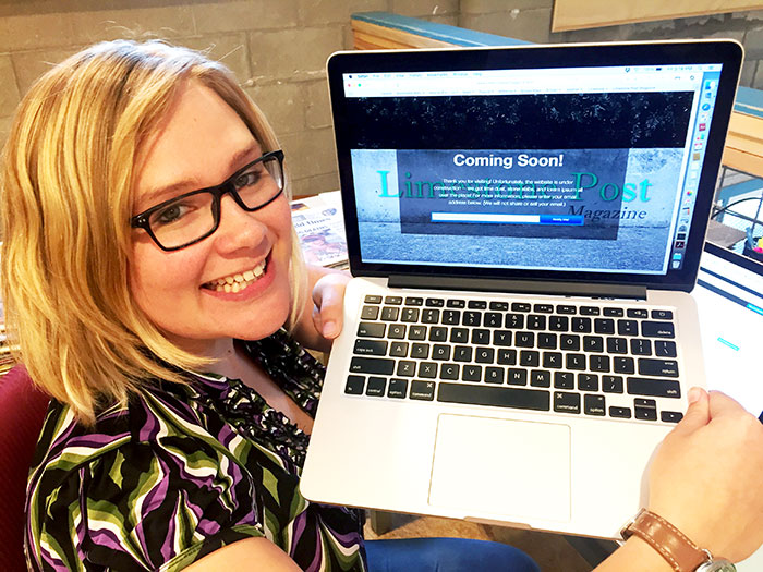 Editorial Director Lynae Sowinski just minutes prior to launching LimestonePostMagazine.com on September 4, 2015. | Limestone Post