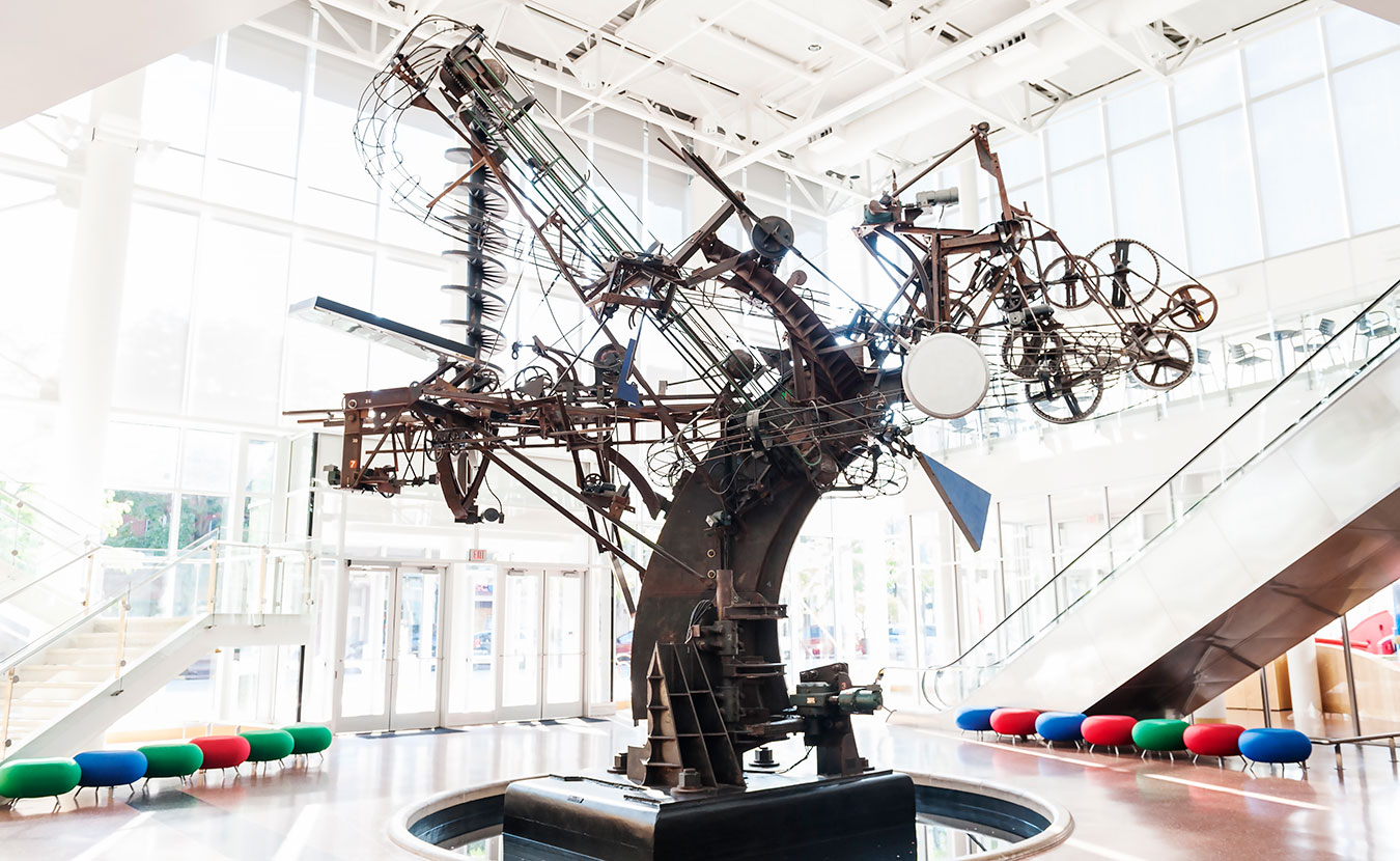 """Chaos I"" by Jean Tinguely. 