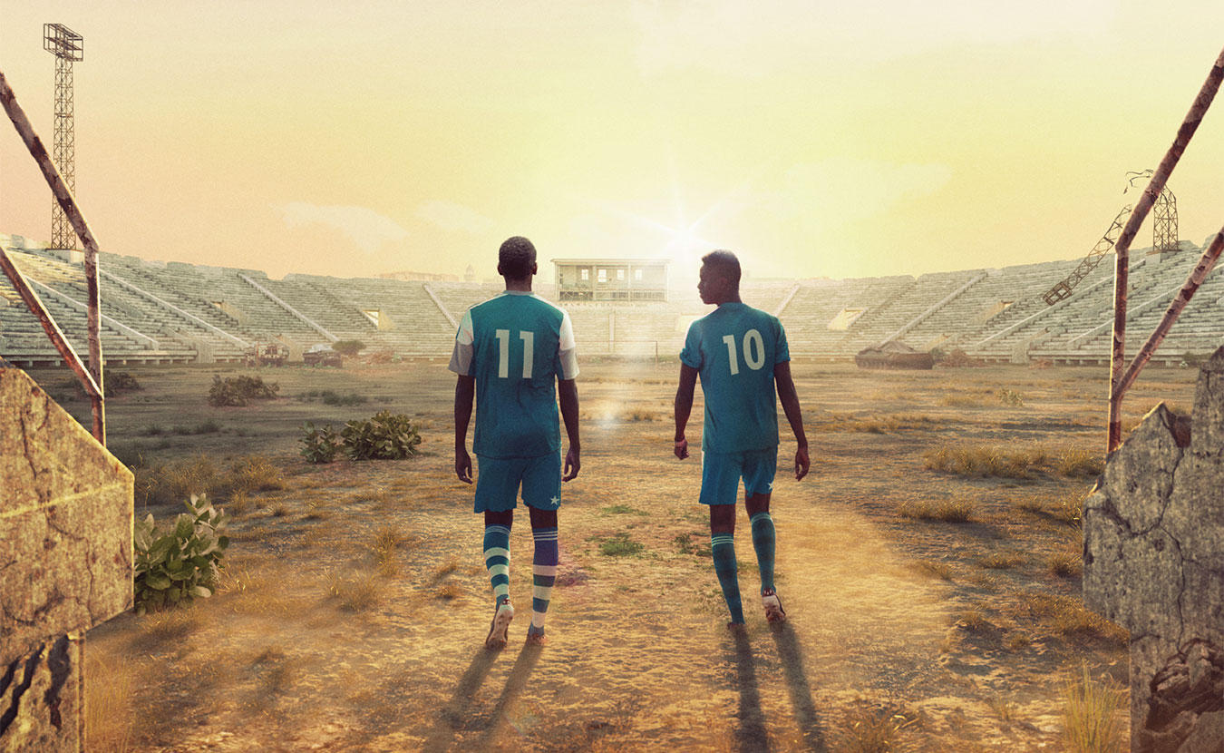 "The film ""Men in the Arena,"" showing in Bloomington at the Buskirk-Chumley Theater on October 26, documents two young Somalis who play on the national soccer team of their war-torn country. 