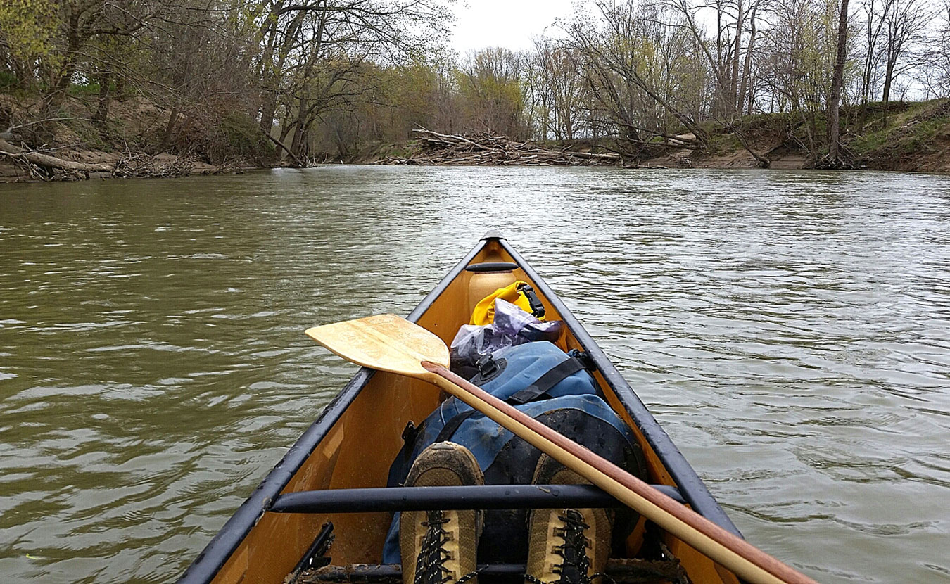 Adventure-travel writer Michael Waterford recommends spending some time in a canoe or kayak on southern Indiana's rivers, including the Eel River near Clay City (pictured here). From family trips to technical paddles, day trips to weekend excursions, lazy rivers to party trips, Waterford reveals his favorite paddling trips in Indiana. | Photo by Michael Waterford