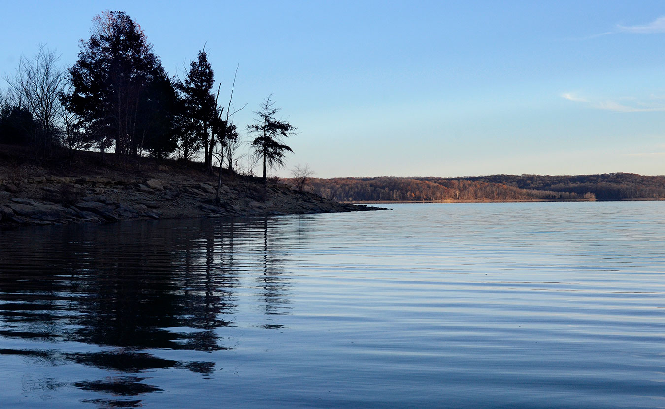 Lake Monroe, Bloomington's water source. | Photo by Lynae Sowinski