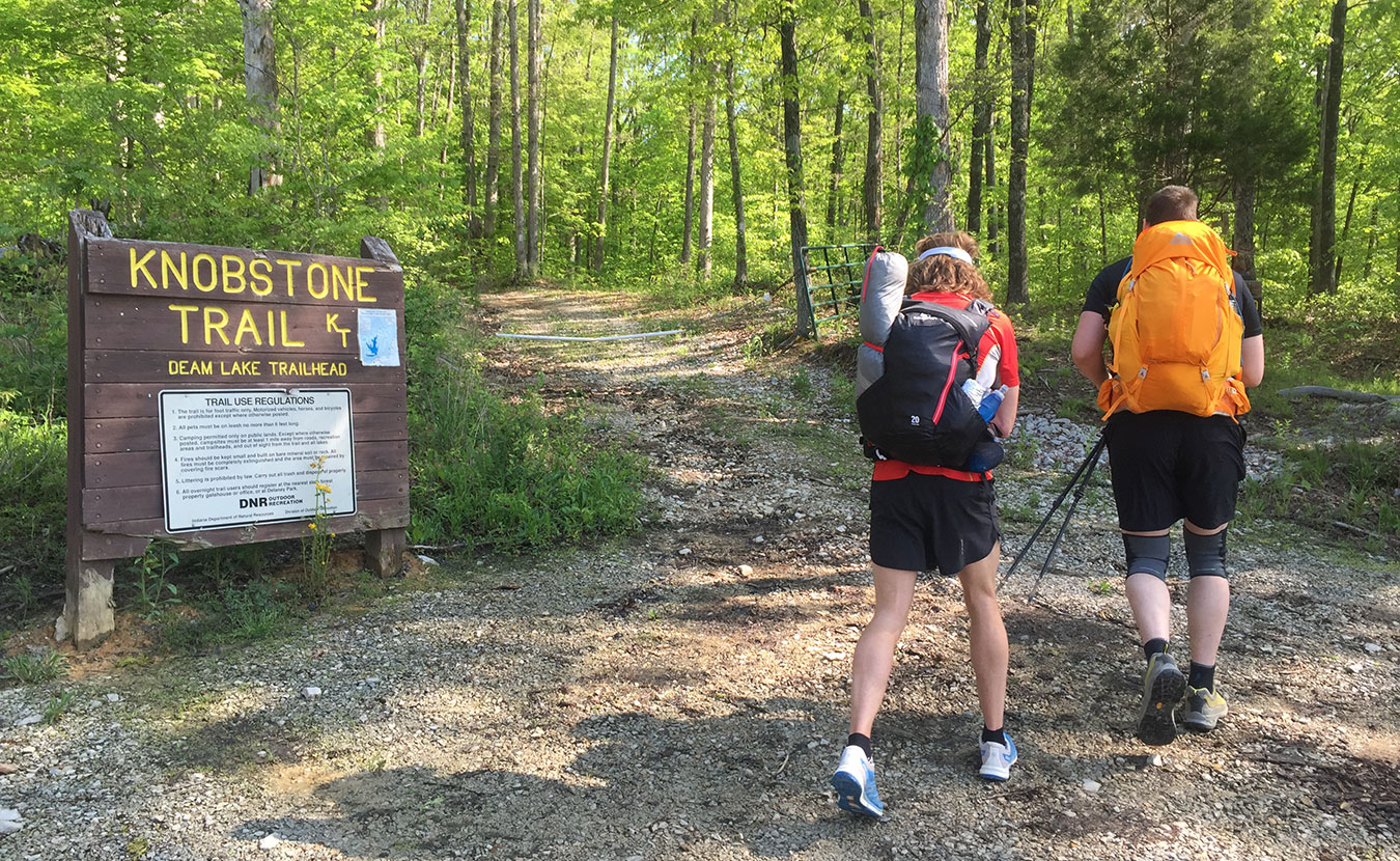 Waterford, right, and some friends fastpacked the 48-mile Knobstone Trail in a weekend. | Courtesy photo
