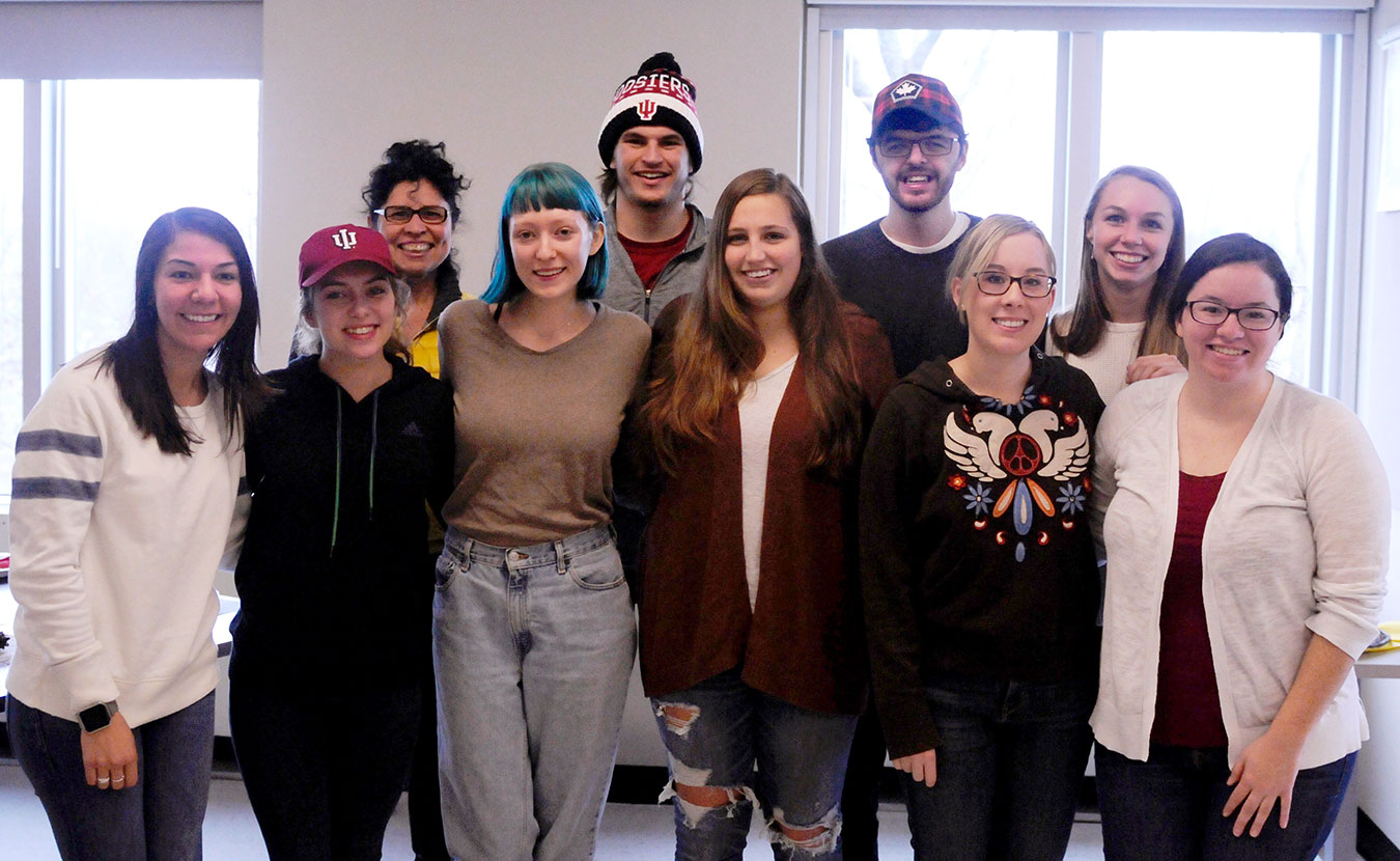 The number of HOPE mentors has increased from three to thirteen in the past year. Pictured here are (front row, l-r) Helena Flores, Hannah Heidenreich, Lizzy Chandler, Abby Huber, Haley Clements, (back row, l-r) Theresa Ochoa, Eric Larson, Jesse Cooperman, and Sarah Swank. | Photo by Ann Georgescu