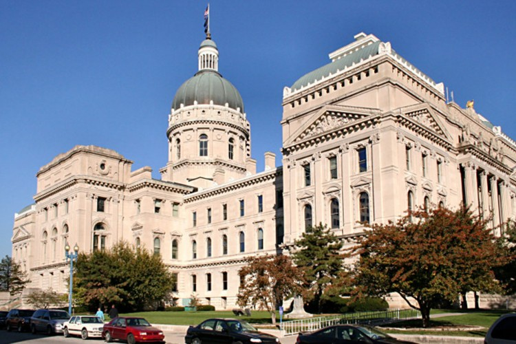Indiana Statehouse in Indianapolis. Indiana University political scientist Luke Wood looks at a potential clash between a more moderate Indiana Republican party and the Trump administration, on both economic and social concerns. | Photo by Derek Jensen