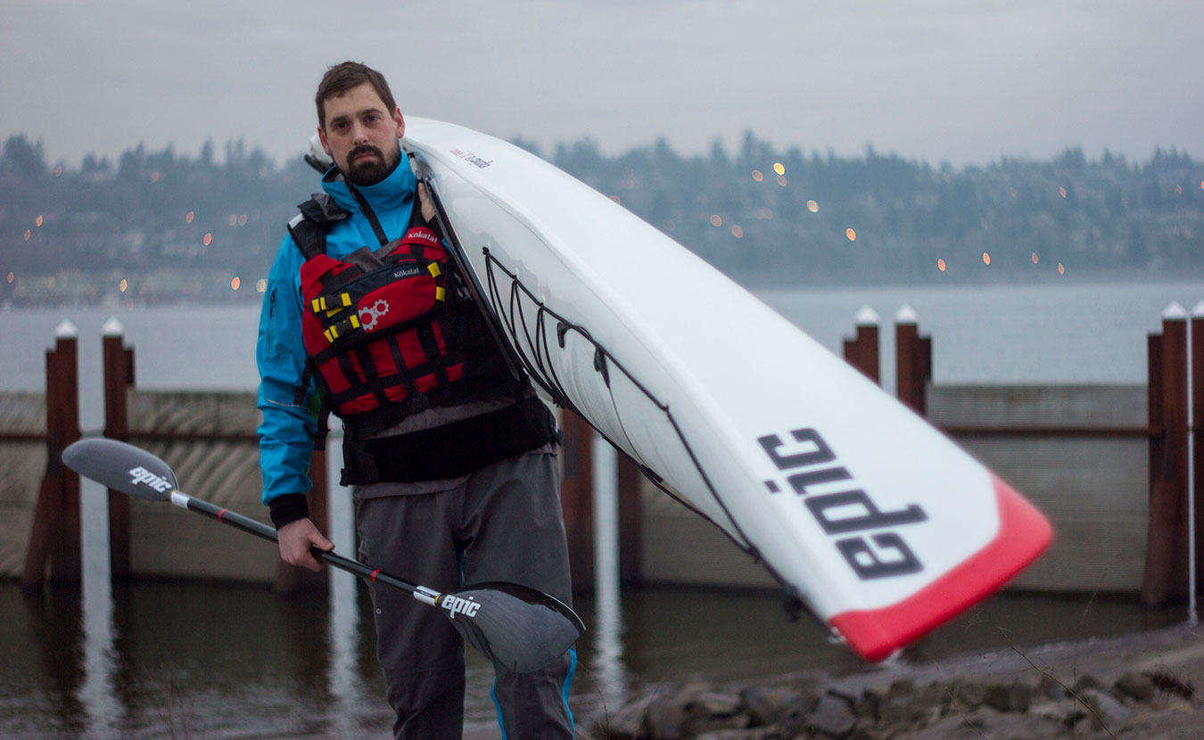 Adventurer Michael Waterford is taking his second source-to-sea trip of the Mississippi River more seriously. Waterford is seen here at the Columbia River in Oregon, training for the second attempt. | Courtesy photo