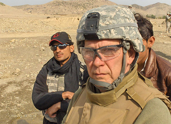 Author Doug Wissing in Afghanistan. | Photo courtesy of Indiana National Guard Agribusiness Development Team