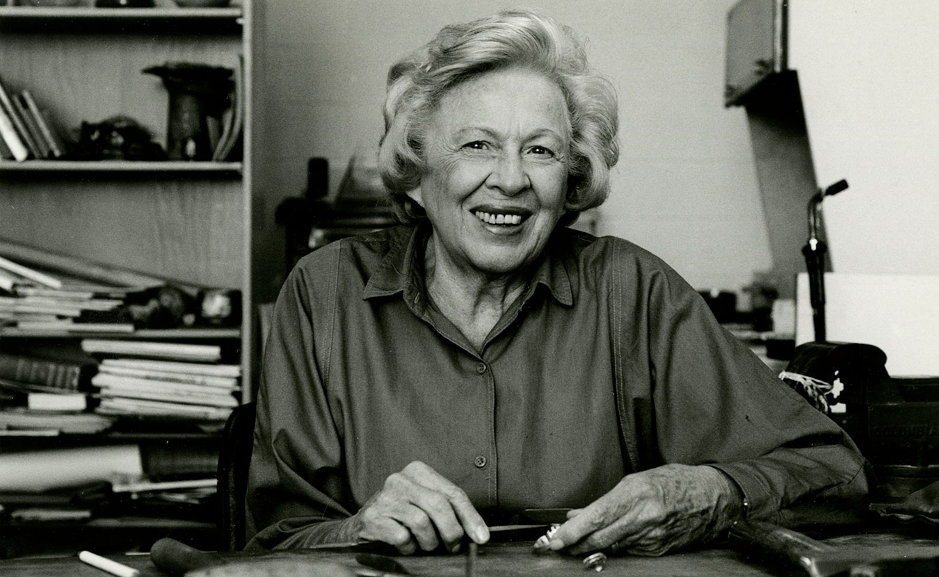 Alma Eikerman's legacy has inspired generations of artists and arts educators. She was an innovative metalsmith, jewelry designer, and professor at the IU School of Fine Arts from 1947 to 1978. | Photo courtesy of Indiana University Archives