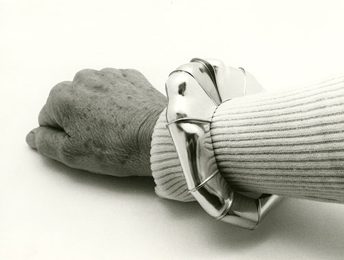 A sterling silver and red brass bracelet by Eikerman. | Photo courtesy of Indiana University Archives