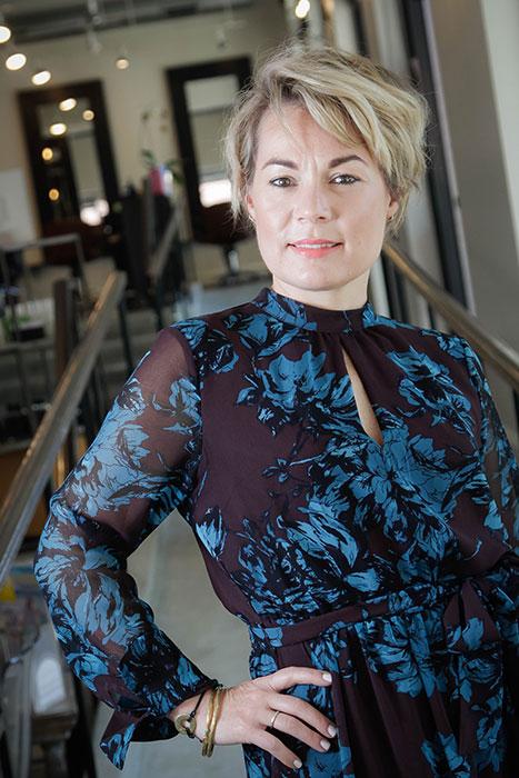Heather Singleton, owner of Mira Salon and Spa. | Photo by Mark Anthony Kathurima