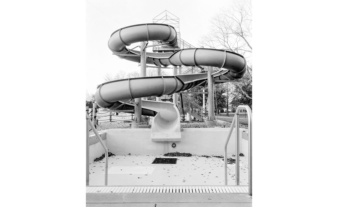 A waterslide in the offseason at the Donner Aquatic Center in Columbus. | Photo by Adam Reynolds
