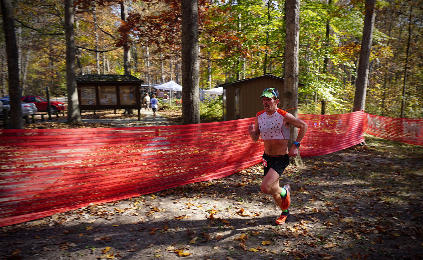 Flaherty runs along the route of the Tecumseh Trail Marathon. | Courtesy photo