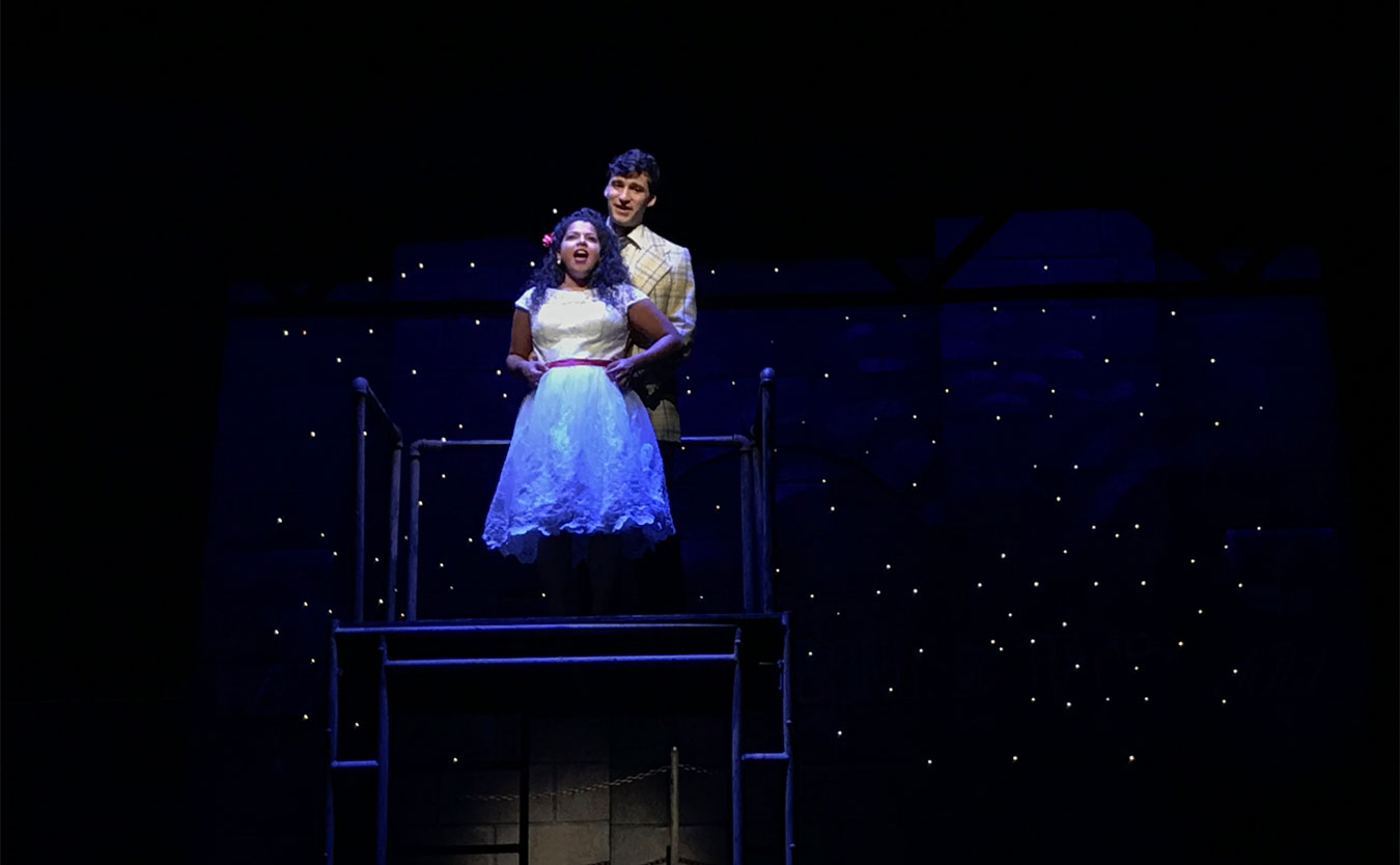 Maria and Tony (Deborah Apodaca and Daniel Lopez) in Cardinal Stage Company's 'West Side Story.'