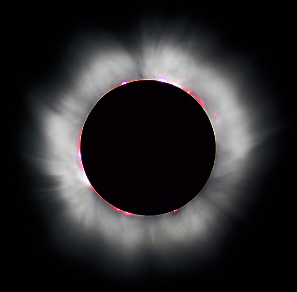 "During a total solar eclipse, the moon fully covers the sun. | Photo courtesy of <a href=""https://lucnix.be/"" target=""_blank"">Luc Viatour, Lucnix.be</a>"