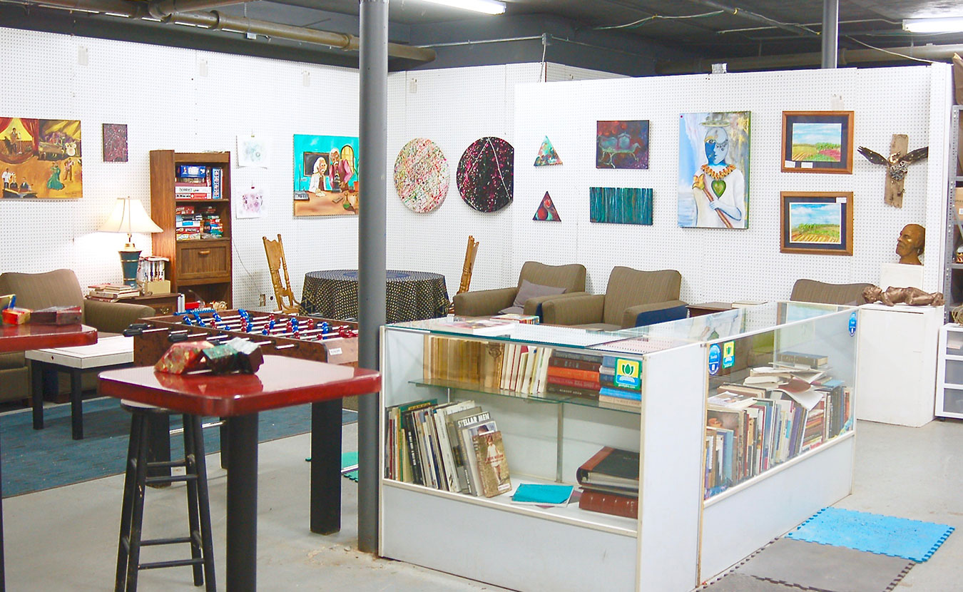 Dimensions Gallery has a little bit of everything: art, books, games, and music. | Photo by Samuel Welsch Sveen