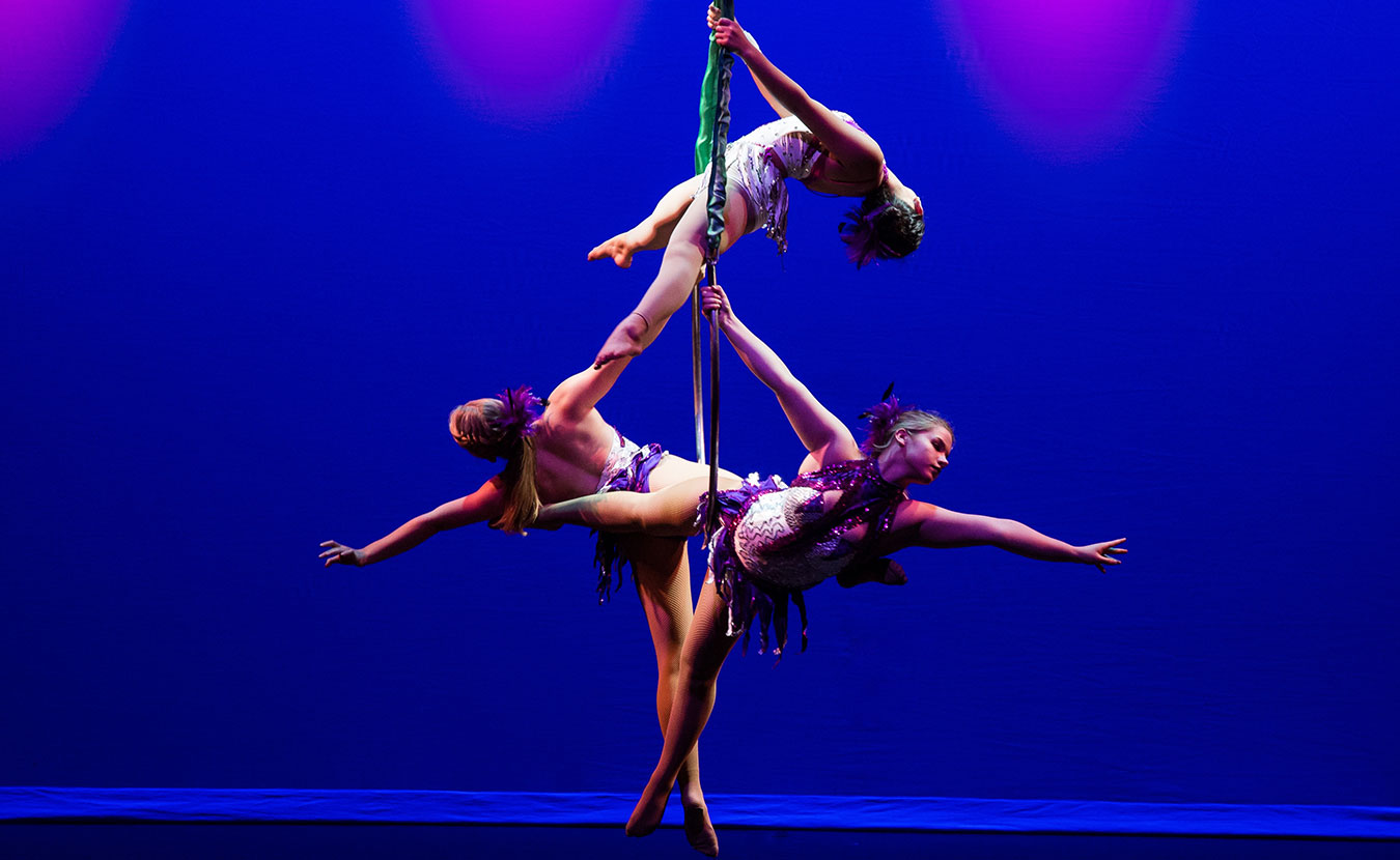 The graceful and mesmerizing aerial acrobats of AsaBela WINGS Aerial Academy will perform in both the matinée and evening Va-Va-Va-Vaudeville shows. | Photo by Chris Rall
