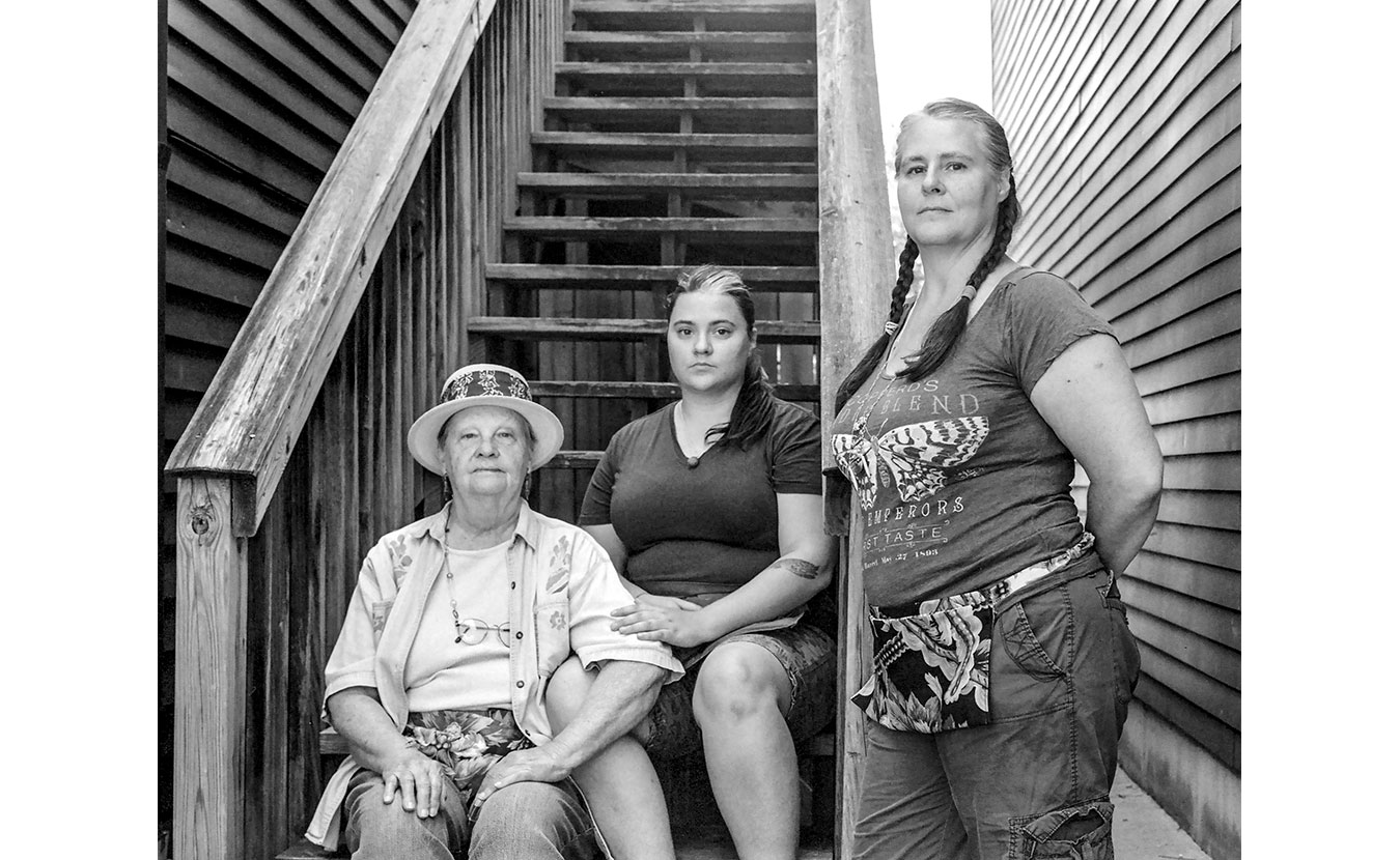 Three generations of Bloomington women (l-r): Gail Trout, Kat Stonecipher, and Penny Trout-Stonecipher. | Photo by Adam Reynolds