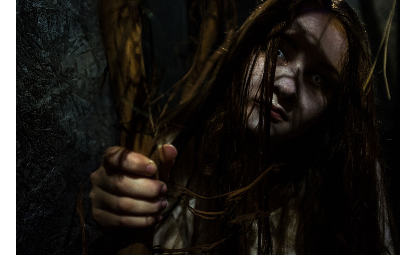 The Girl in the Well at the Barn of Terror.   Photo by Adam Reynolds