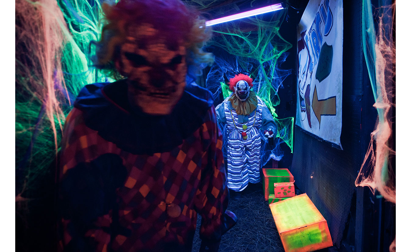 The Clowns at the Barn of Terror. | Photo by Adam Reynolds