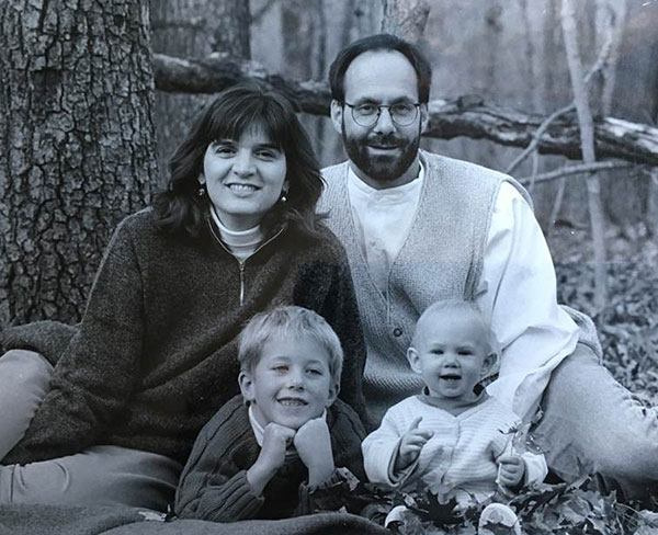 (clockwise from left) Keller, Thomas Kuhn, Alison, and Ben, circa 1997. | Photo by Jaime Sweany