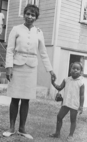 Abegunde, right, with her mother, Linda Theresa Daly Hamilton, in the 1960s. | Courtesy photo