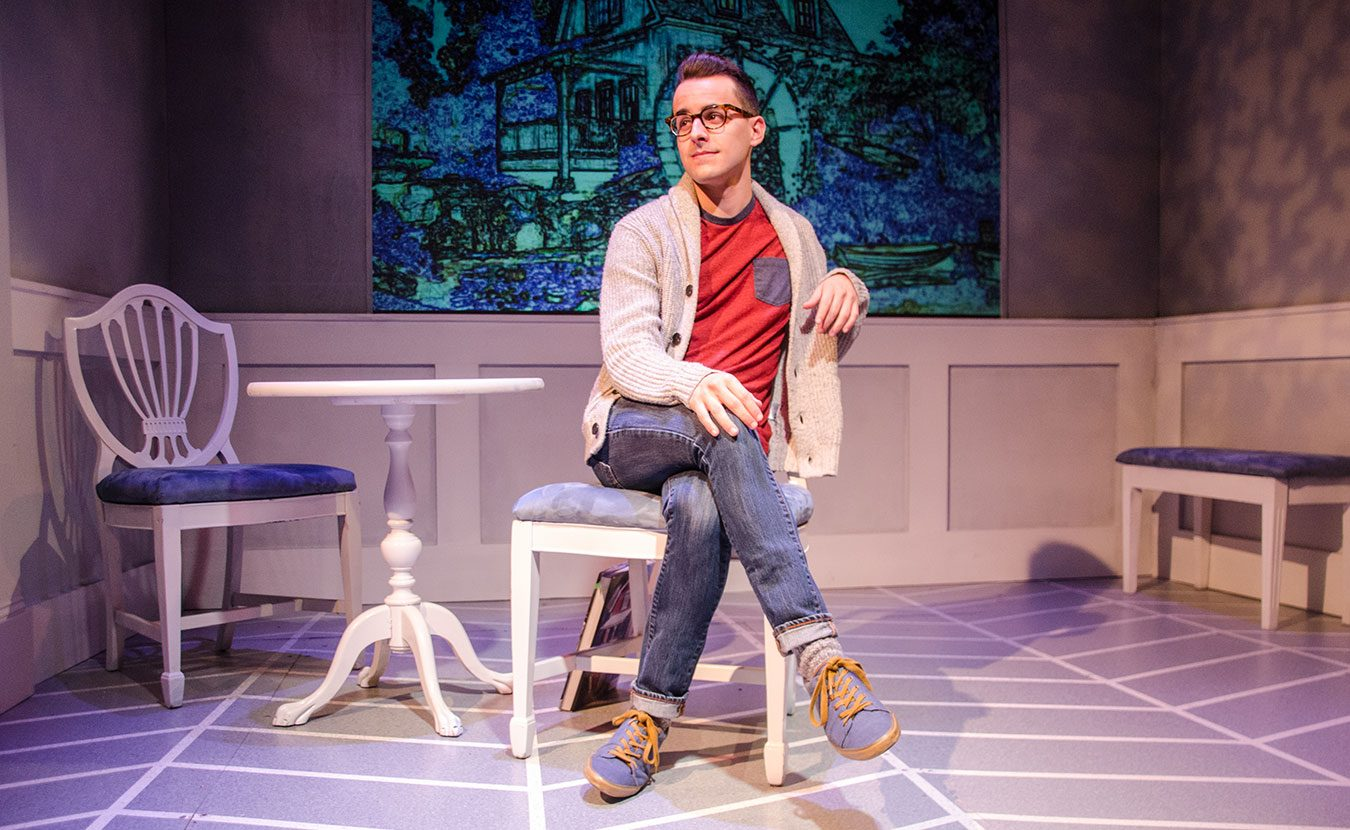 "New-York-based Equity actor Remy Germinario as Alex in Cardinal Stage's 2015 production of ""Buyer and Cellar."" Rachel Glago, marketing manager at Cardinal Stage Company, says Equity houses lead ""to overall economic growth."" 