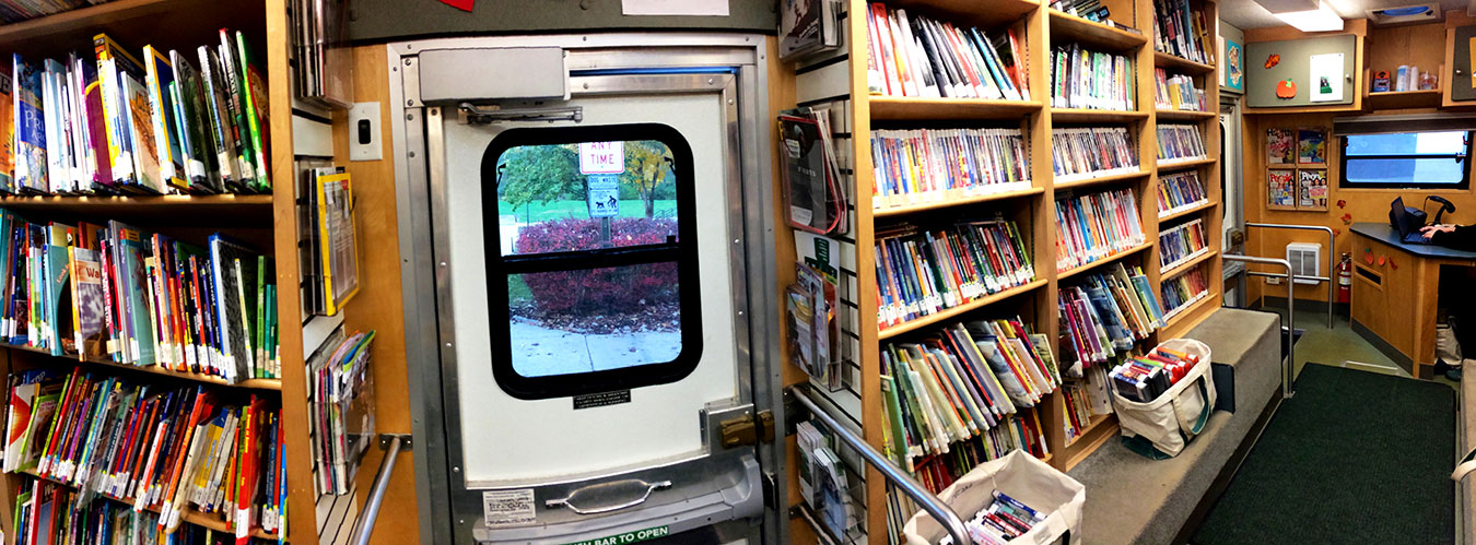 The MCPL Bookmobile brings reading material to Monroe County residents who wouldn't otherwise have access. | Photo by Michelle Gottschlich