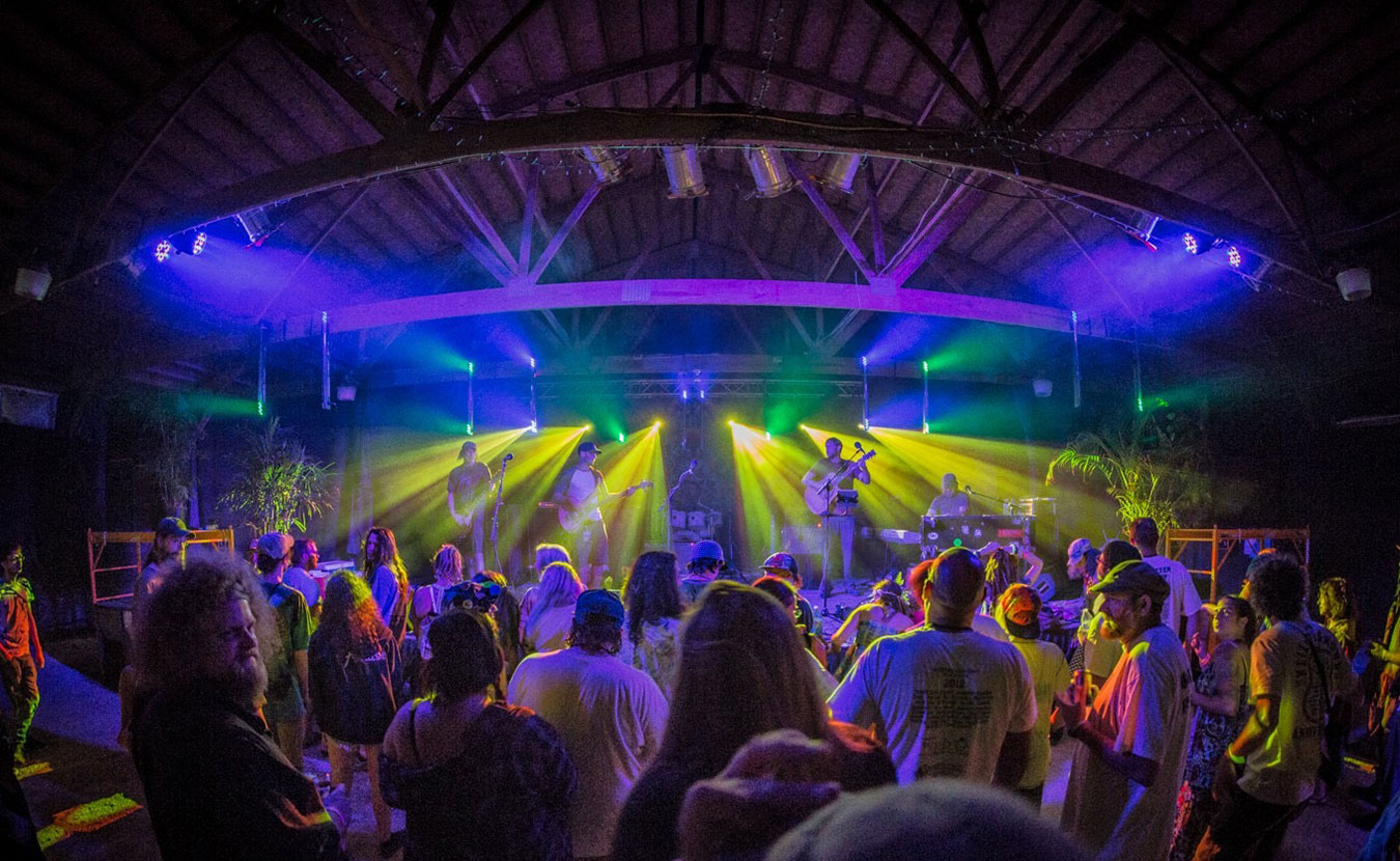 Chris Kinnick transformed his 55-acre horse farm into Stable Studios, a music festival venue and recording studio. Pictured here is the crowd from Good People Good Times, a summer festival of jam bands, bluegrass, folk, and rock. | Courtesy photo