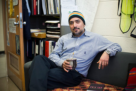 Christian Medina, research geologist at the Indiana Geological & Water Survey at Indiana University and founding editor of Cardboard House Press. | Photo by Chaz Mottinger