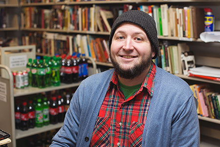 Jared Cheek, owner and manager of Flannelgraph Records. | Photo by Chaz Mottinger