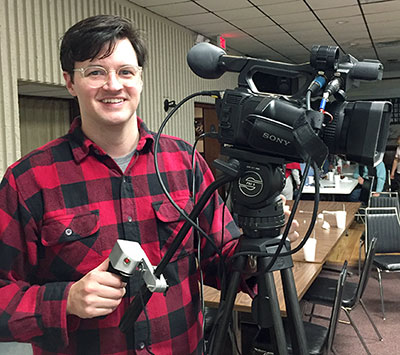 Mike Adams, musician and production assistant at Community Access TV. | Limestone Post