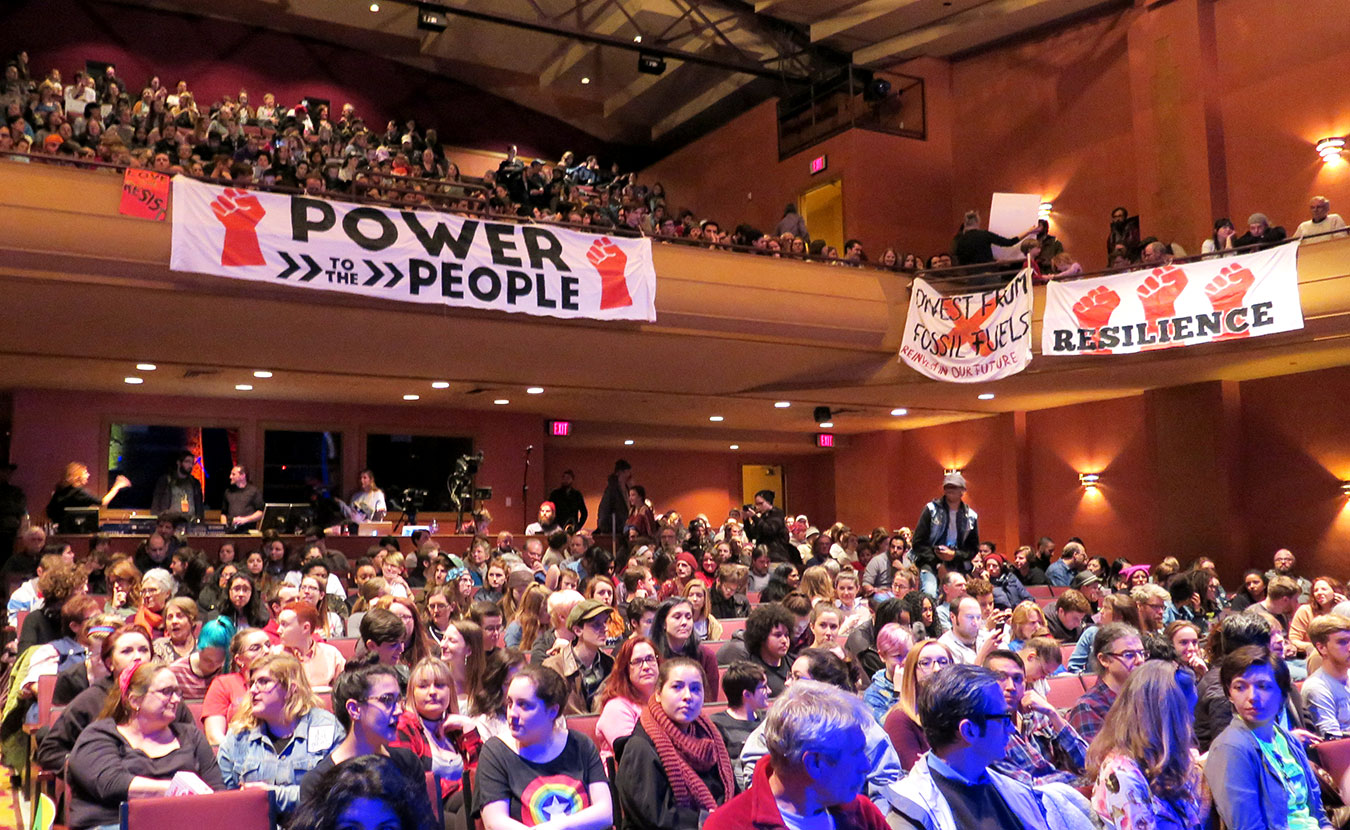 In response to the presidential inauguration, a group of folks in Bloomington channeled their energy into Inaugurate the Revolution as an act of resistance to the incoming administration. Event organizers curated panels for the one-day conference in order to unite the community in a day of activism and engagement. The event culminated in a rally at the packed Buskirk-Chumley Theater (pictured). At the beginning of 2017, we asked a few of the panelists to put together stories showing many of the issues people in our town are working on — and what you can do to help out. | Limestone Post