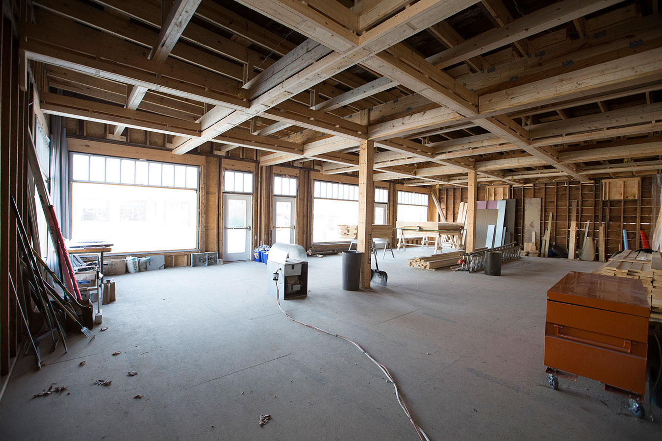 The room facing Rogers Street will be the Pictura Gallery space. | Photo by Chaz Mottinger, courtesy of Pictura Gallery